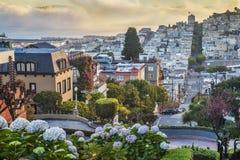Amanhecer em San Francisco foto de stock