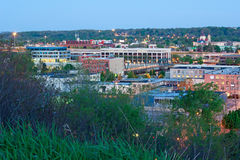 Amanhecer Grand Rapids Michigan imagens de stock