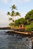 Amanhecer grande da costa de Kona do console de Havaí Fotos de Stock