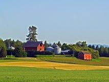 Amanhecer na exploração agrícola Imagem de Stock Royalty Free