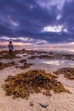 Amanhecer na praia fotografia de stock royalty free