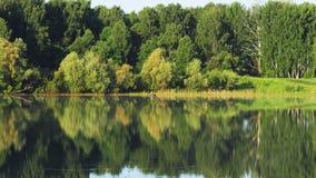 Amanhecer no lago pitoresco video estoque