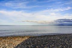 Amanhecer no mar Fotografia de Stock