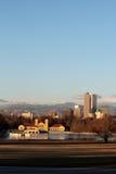 Amanhecer no parque da cidade, Denver, Colorado Foto de Stock