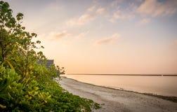 Amanhecer no Sandy Beach Imagem de Stock Royalty Free