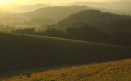 Amanhecer sobre o vale de Marshwood Foto de Stock