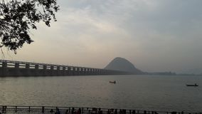 Amanhecer Vijayawada Imagens de Stock