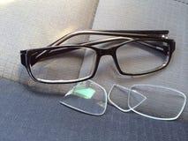 Łamani Eyeglasses Obrazy Royalty Free