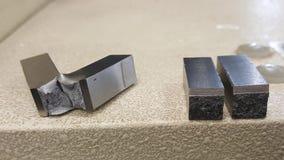 Łamanie metalu baru testowanie dowód Zdjęcia Stock