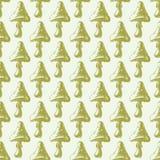 Amanita μυγών αγαρικών toadstool μανιταριών διανυσματική απεικόνιση σχεδίου ύφους τέχνης σχεδίων μυκήτων άνευ ραφής Στοκ φωτογραφίες με δικαίωμα ελεύθερης χρήσης