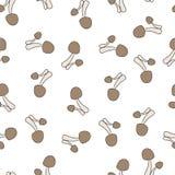 Amanita σχέδιο μύγα-αγαρικών άνευ ραφής διανυσματική απεικόνιση