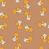 Amanita σχέδιο μύγα-αγαρικών άνευ ραφής απεικόνιση αποθεμάτων