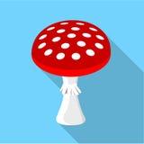 Amanita muscaria, poisonous mushroom icon Stock Photo