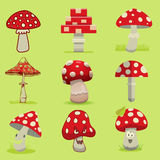 Amanita poisonous mushroom, isolated vector Royalty Free Stock Image
