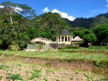 Amanjiwo Presidential Suite. Photo of the presidential suite at the Amanjiwo resort in the hills surrounding the temple Borobudur Stock Photos