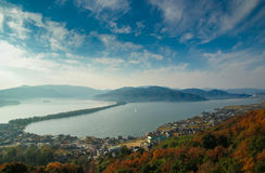 Amanohashidate, also known as The Bridge to Heaven, in northern Kyoto, Japan Royalty Free Stock Images