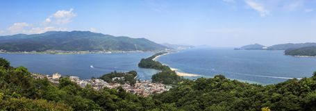 Free Amanohashidate Panoramic View From Mt Moju, Kyoto Prefecture, Japan Royalty Free Stock Photography - 125621807