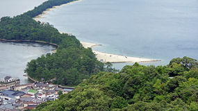 Amanohashidate-Sandbank Lizenzfreie Stockfotos
