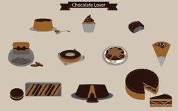 Amant doux de chocolat de temps illustration de vecteur