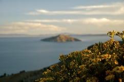 amantani isla湖titicaca 图库摄影