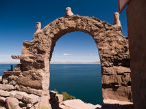 Amantani Island on Lake Titicaca Stock Photos