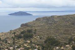 Amantani island, Titicaca lake, Peru Royalty Free Stock Image