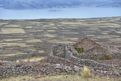 Amantani island, Titicaca lake, Peru Stock Images