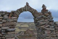 Amantani island, Titicaca lake, Peru Stock Photography