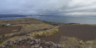 Amantani island, Titicaca lake, Peru Stock Image