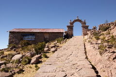 Amantani, lac Titcaca, Pérou photo stock