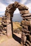 Amantani, lac Titcaca, Pérou photographie stock libre de droits