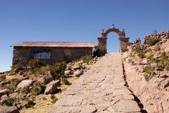 Amantani, Titcaca-meer, Peru Stock Foto