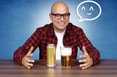 Amante da cerveja Fotos de Stock Royalty Free