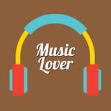 Amante de la música stock de ilustración