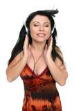 Amante de la música de Audiophile foto de archivo libre de regalías