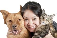 Amante de los animales domésticos Fotografía de archivo libre de regalías