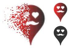 Amante de semitono punteado polvo Smiley Map Marker Icon libre illustration