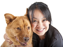 Amante del animal doméstico Imagen de archivo libre de regalías