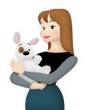 Amante del animal doméstico stock de ilustración