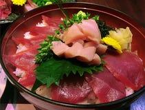 Amante del atún, comida japonesa Foto de archivo libre de regalías