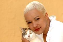 Amante del gato Imágenes de archivo libres de regalías