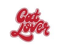 Amante del gato Letras manuscritas del vector ilustración del vector