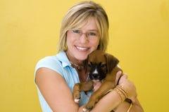 Amante del perro Foto de archivo libre de regalías