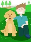 Amante do cão ilustração royalty free