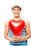 Amante do Latino com o balão do amor do coração imagem de stock royalty free