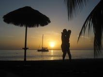 Amante do por do sol Imagens de Stock