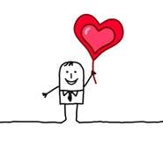 amante e coração Imagens de Stock