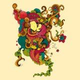 Amante en doodle libre illustration
