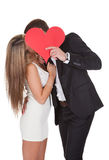 Amante que mostra a afeição para a senhora Fotos de Stock Royalty Free