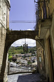 Amantea, stone arch, access to the ancient city, Italy Royalty Free Stock Image